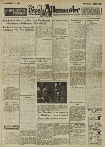 De Vrije Alkmaarder 1949-02-05