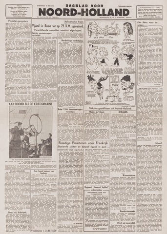 Dagblad Noord-Holland, Schager editie 1944-05-31