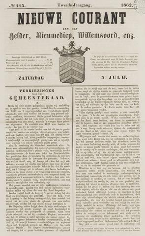 Nieuwe Courant van Den Helder 1862-07-05