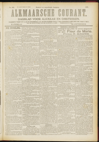 Alkmaarsche Courant 1917-09-22