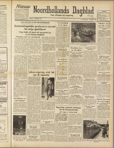Nieuw Noordhollandsch Dagblad : voor Alkmaar en omgeving 1947-08-08