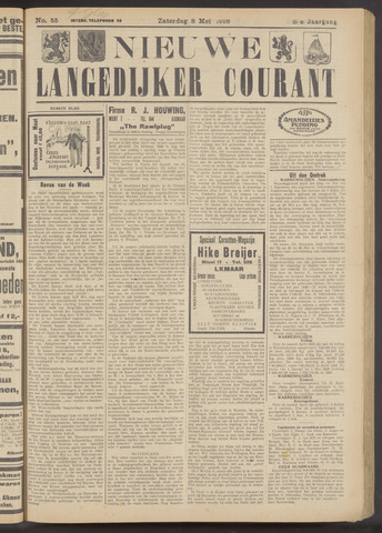 Nieuwe Langedijker Courant 1926-05-08