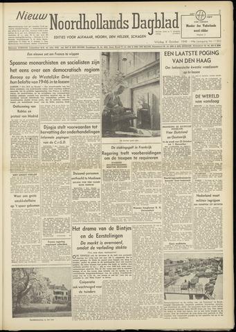 Nieuw Noordhollandsch Dagblad : voor Alkmaar en omgeving 1948-10-08