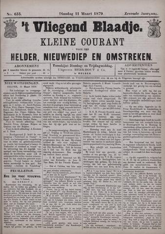 Vliegend blaadje : nieuws- en advertentiebode voor Den Helder 1879-03-11
