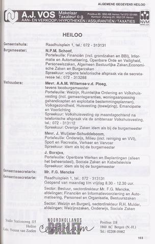 Adresboek van Heiloo 1989-01-02