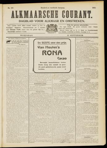 Alkmaarsche Courant 1912-09-25