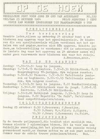 Op De Hoek, weekblad voor Akersloot 1964-10-23