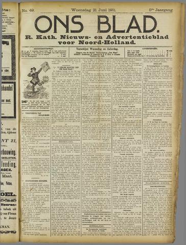 Ons Blad : katholiek nieuwsblad voor N-H 1911-06-21
