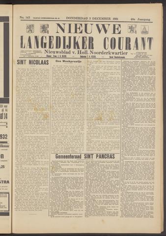 Nieuwe Langedijker Courant 1931-12-03