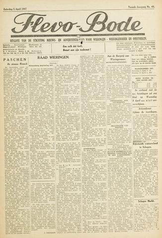Flevo-bode: nieuwsblad voor Wieringen-Wieringermeer 1947-04-05