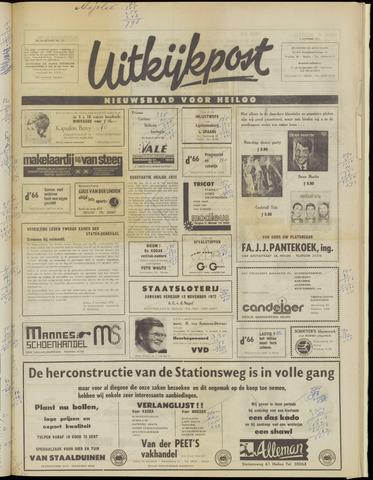 Uitkijkpost : nieuwsblad voor Heiloo e.o. 1972-11-08
