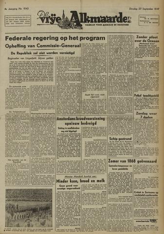 De Vrije Alkmaarder 1947-09-23