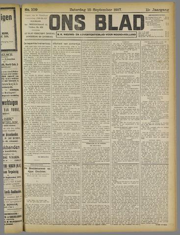 Ons Blad : katholiek nieuwsblad voor N-H 1917-09-15