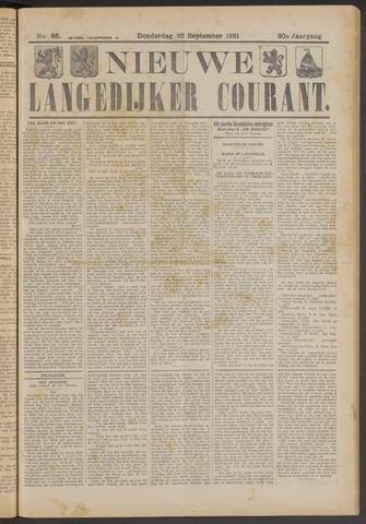 Nieuwe Langedijker Courant 1921-09-22