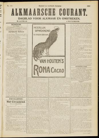 Alkmaarsche Courant 1912-11-04