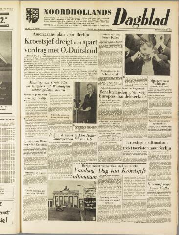Noordhollands Dagblad : dagblad voor Alkmaar en omgeving 1959-05-27