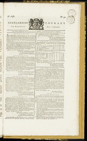 Alkmaarsche Courant 1838-10-01