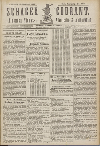 Schager Courant 1920-11-24