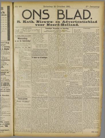 Ons Blad : katholiek nieuwsblad voor N-H 1911-10-21