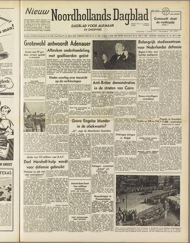 Nieuw Noordhollandsch Dagblad : voor Alkmaar en omgeving 1951-10-11