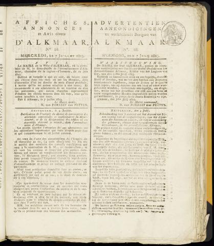 Alkmaarsche Courant 1813-07-07
