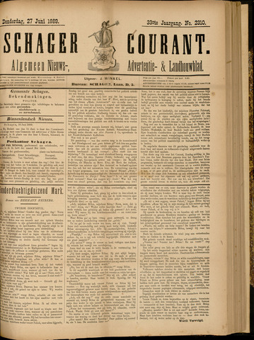 Schager Courant 1889-06-27