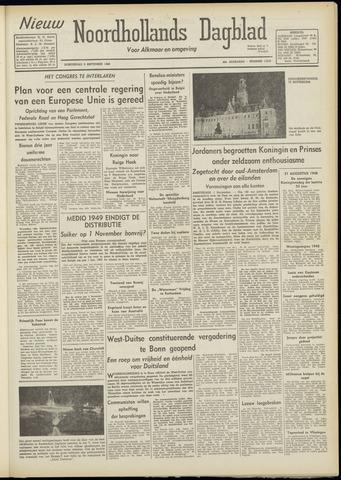 Nieuw Noordhollandsch Dagblad : voor Alkmaar en omgeving 1948-09-02