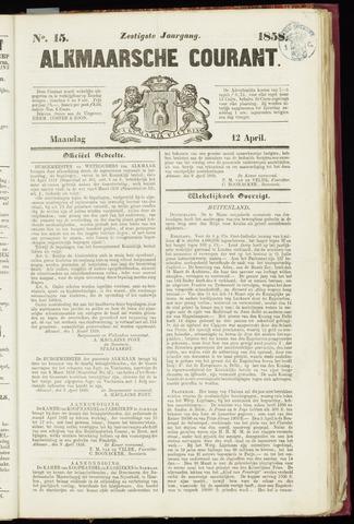 Alkmaarsche Courant 1858-04-12