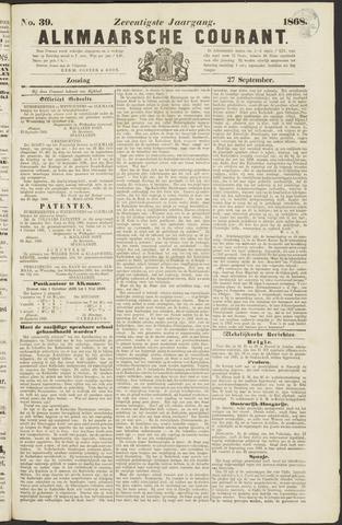 Alkmaarsche Courant 1868-09-27