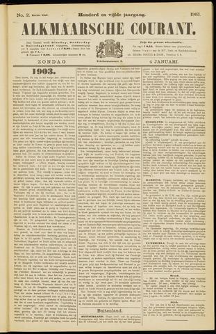 Alkmaarsche Courant 1903-01-04