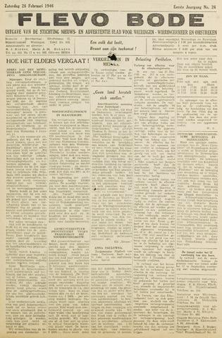 Flevo-bode: nieuwsblad voor Wieringen-Wieringermeer 1946-02-26