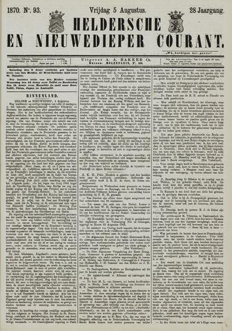 Heldersche en Nieuwedieper Courant 1870-08-05