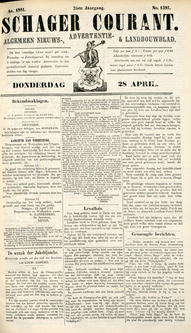 Schager Courant 1881-04-28
