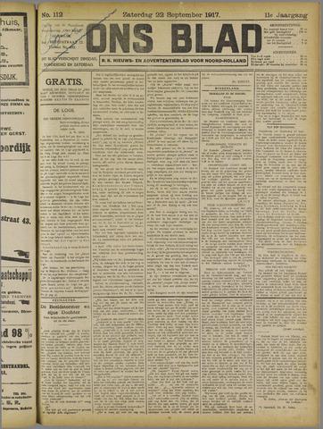 Ons Blad : katholiek nieuwsblad voor N-H 1917-09-22