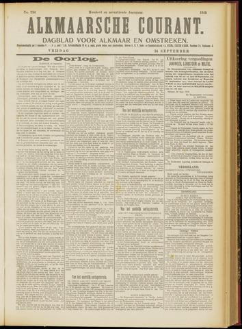 Alkmaarsche Courant 1915-09-24