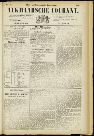 Alkmaarsche Courant 1891-04-22