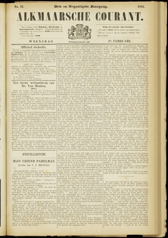 Alkmaarsche Courant 1891-02-18