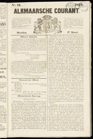 Alkmaarsche Courant 1854-03-27