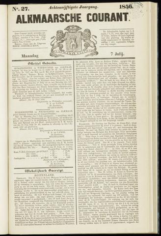 Alkmaarsche Courant 1856-07-07