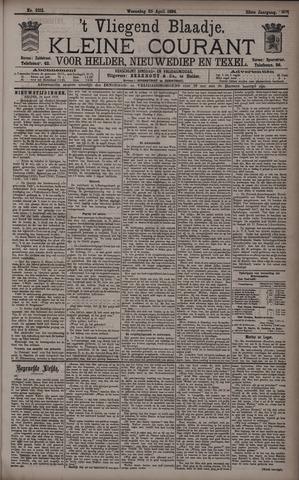 Vliegend blaadje : nieuws- en advertentiebode voor Den Helder 1894-04-25