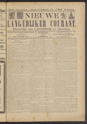 Nieuwe Langedijker Courant 1922-09-23