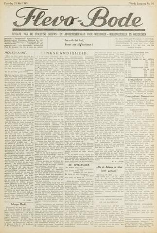 Flevo-bode: nieuwsblad voor Wieringen-Wieringermeer 1949-05-28