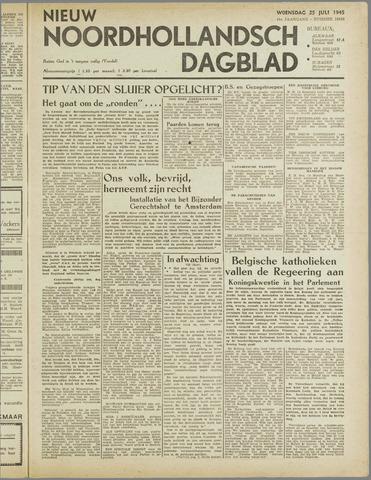 Nieuw Noordhollandsch Dagblad : voor Alkmaar en omgeving 1945-07-25