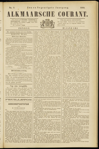 Alkmaarsche Courant 1889-01-20