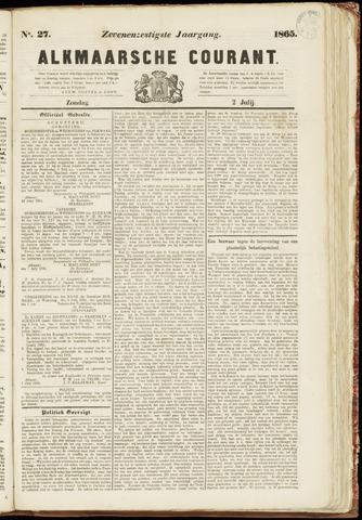 Alkmaarsche Courant 1865-07-02