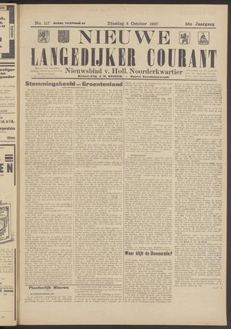 Nieuwe Langedijker Courant 1927-10-04