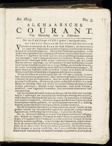 Alkmaarsche Courant 1805-02-04