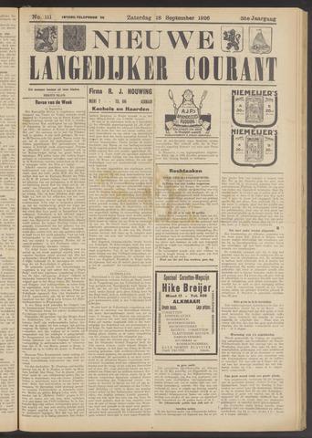 Nieuwe Langedijker Courant 1926-09-18