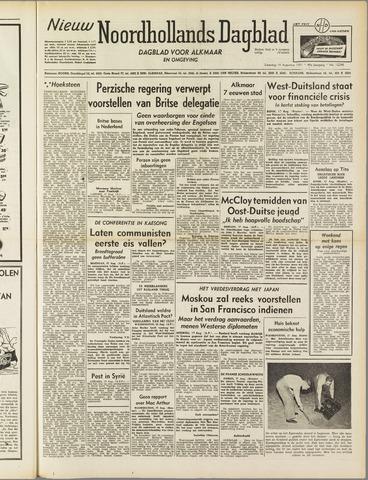 Nieuw Noordhollandsch Dagblad : voor Alkmaar en omgeving 1951-08-18