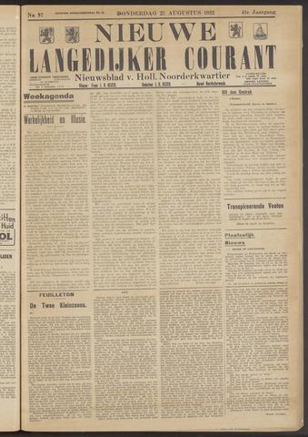 Nieuwe Langedijker Courant 1932-08-25